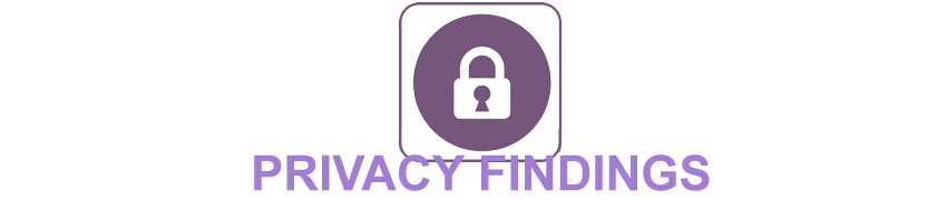 Privacy Findings