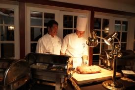 Chefs at Las Brisas restaurant