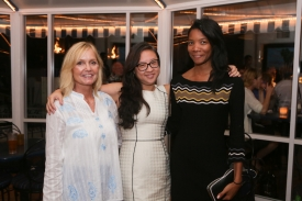Julie Grimaldi, Melli Pini and June Ramadhan