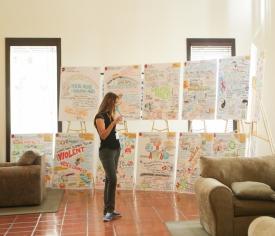 Graphic Illustrations on display